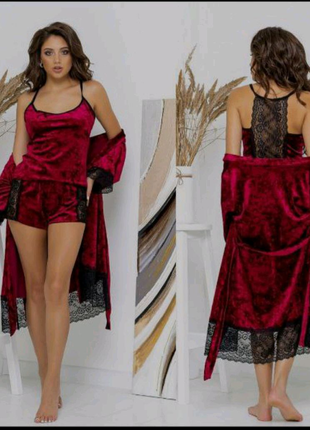 Набор халат + пижама