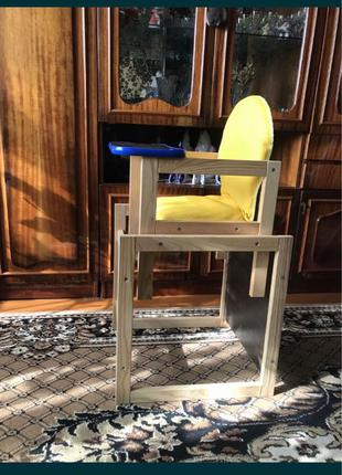 Десткий стульчик для кормления. Трансформер, стол и стул.