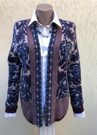 Шерстяной,вязаный кардиган,кофта,трикотаж жакет,пиджак,альпака,