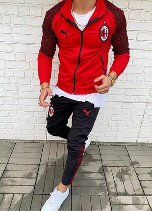 Спортивный костюм мужской puma красный / спортивний комплект ч...