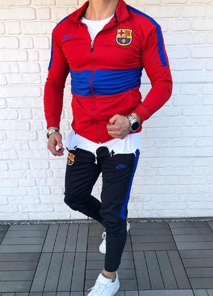 Спортивный костюм мужской nike красный / спортивний комплект ч...