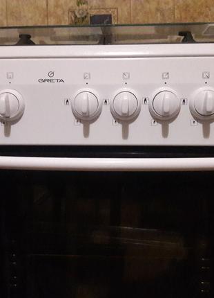 Плита газовая духовка Greta