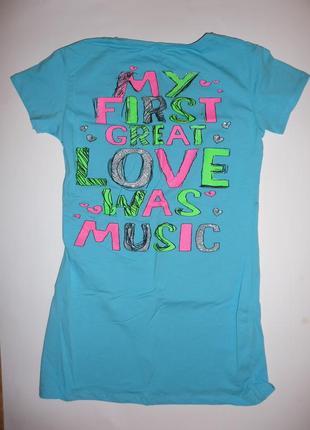 Футболка my first great love was music