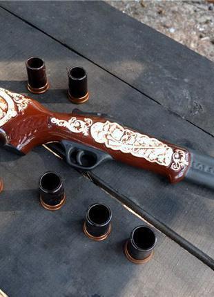 Охотничье двуствольное ружье - подарочный набор для спиртного
