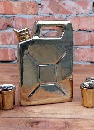 Золотая канистра в гараж для спиртного, подарочный набор мужчине