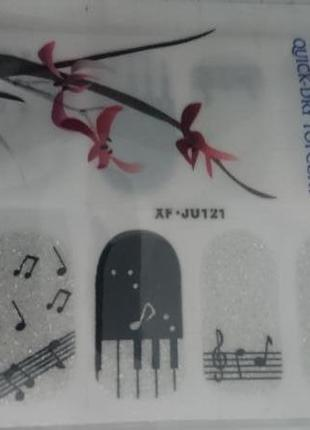 🎶 музыкальный декор для ногтей