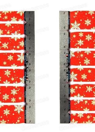 Дизайн для ногтей ❄ снежинки на красном фоне