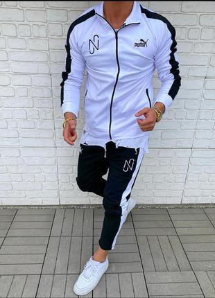 Спортивный костюм мужской puma белый / спортивний комплект чол...
