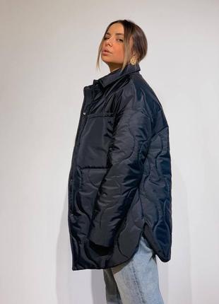 Стеганая демисезонная куртка рубашка