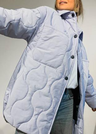 Стеганая демисезонная  куртка-рубашка