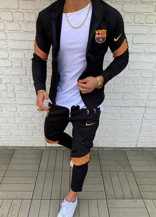 Спортивный костюм мужской nike черный / спортивний комплект чо...