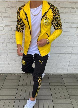 Спортивный костюм мужской puma желтый / спортивний комплект чо...