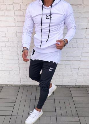 Спортивный костюм мужской nike белый / спортивний комплект чол...