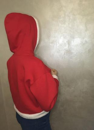 Красное укороченое худи