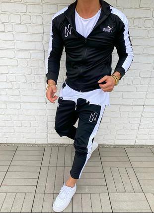 Спортивный костюм мужской puma черный / спортивний комплект чо...