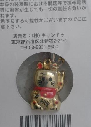 Котик подвеска звенящий брелок привезён из японии
