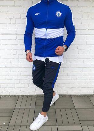 Спортивный костюм мужской nike синий / спортивний комплект чол...