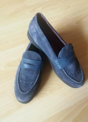 Мужские замшевые туфли лоферы 44р