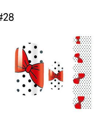 Готовый дизайн ногтей горошек 🎀 бантики sale