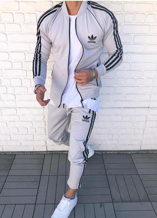 Спортивный костюм мужской adidas серый / спортивний комплект...
