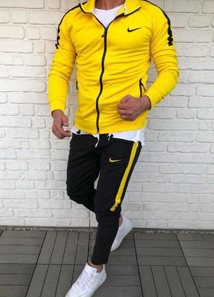 Спортивный костюм мужской nike желтый / спортивний комплект чо...