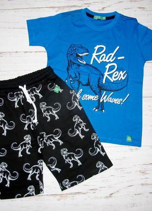 Комплект шорти, футболка динозавр