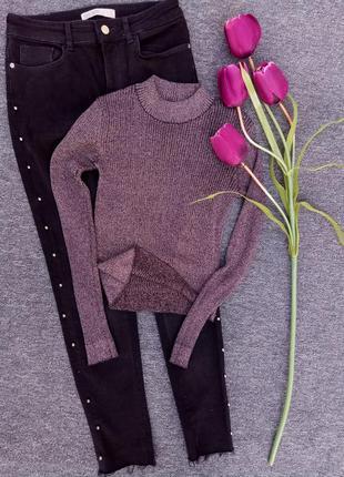 Стильный свитер с люрексом раз. xs
