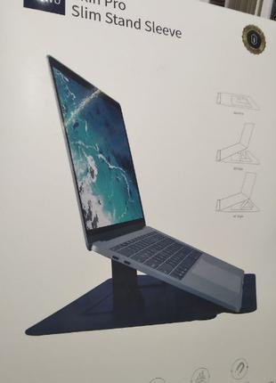 Кожаный Чехол папка с подставкой WIWU Skin Pro Slim Stand для Mac