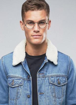 Имиджевые очки нулевки мужские круглые оправа мужская