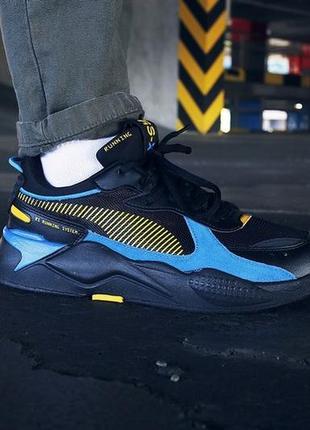 Крутые puma running sistem blue black мужские беговые кроссовк...