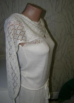 Ажурное платье+ шарф s-m-размер. испания