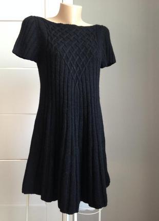 Теплое зимнее шерстяное платье италия