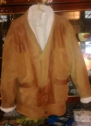 Куртка замшевая мужская с натурального меха.