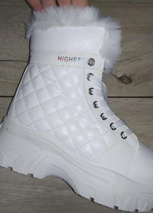 Теплые ботинки платформа  осень женские деми толстая подошва