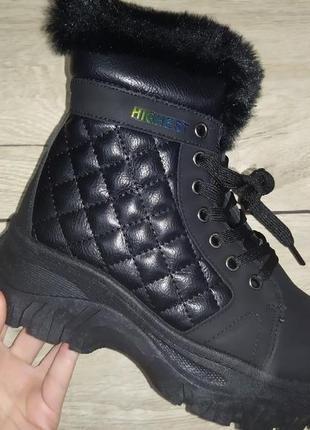 Теплые ботинки платформа  евро зима женские деми толстая подошва