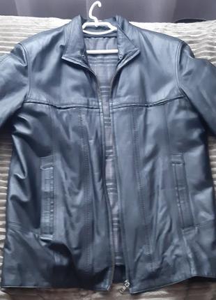 Шкіряна чоловіча куртка, розмір XL, L