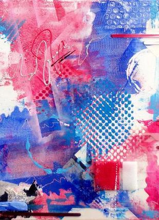 Полиэтилен. Акриловая живопись на холсте, картина абстракция, ...