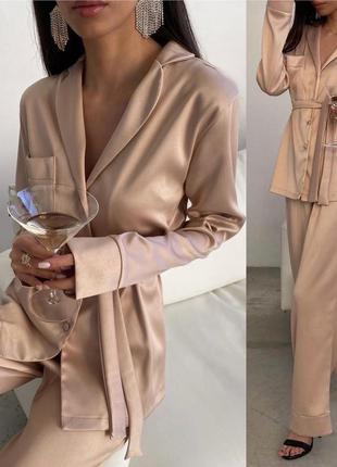 Пижама из шёлка 😍для подарка на новый год 🎁