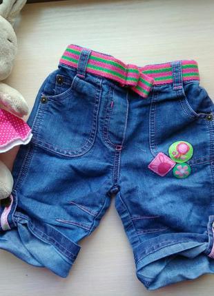 Джинсы джинсовые штаны шорты mothercare новые 3-6 месяцев на д...