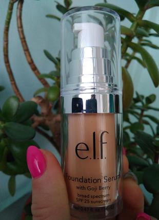 Тональный крем elf e.l.f foundation serum с годжи солнцезащитн...