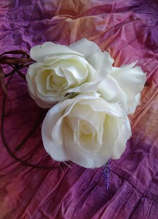 Очень красивый свадебный венок украшение на голову волосы зако...