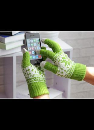 Распродажа! варежки перчатки зимние женские мужские touch scre...