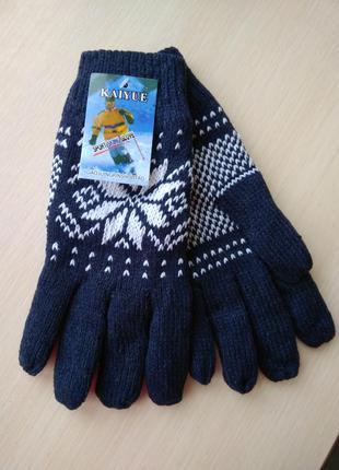 Распродажа! варежки перчатки зимние женские мужские вязаные те...