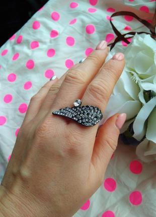 Распродажа украшений красивое кольцо ангел крыло со стразами к...