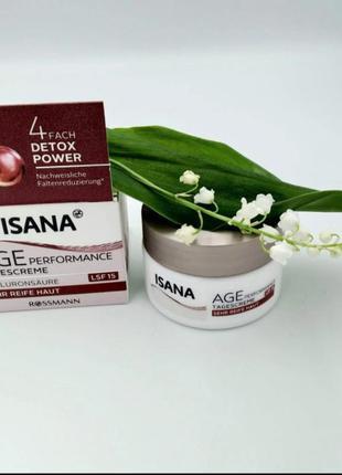 Isana дневной крем для лица от морщин с витаминами и гиалуроно...