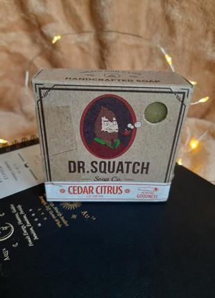 Dr. squatch cedar citrus мужское мыло для волос и бороды для р...