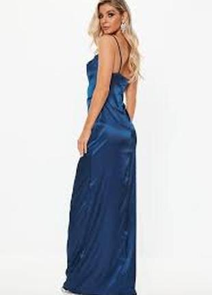 Ликвидация товара 🔥 синее вечернее сатиновое платье