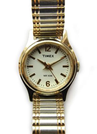 Timex миниатюрные часы из сша браслет twist-o-flex водозащита