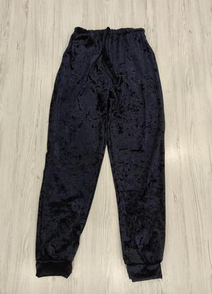👑♥️final sale 2019 ♥️👑  темно синие велюровые брюки джогеры