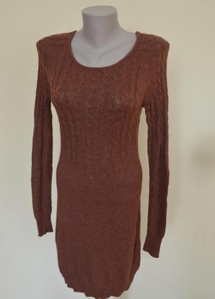 Шикарное брендовое трикотажное теплое платье длинный рукав